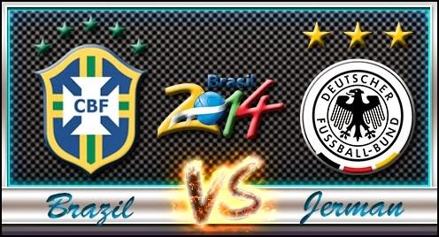 Laga Seru Yang Mempertemukan Live Brasil vs Jerman - BerbagiPrediksi.Blogspot.com