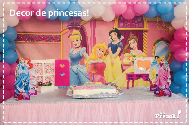 dicas - ideias - inspirações para fazer uma festa aniversário infantil - menina - princesas da disney