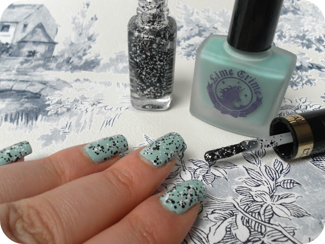 A picture of a Illamasqua Speckled Polish Dupe