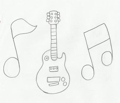 desenho de guitarra para colorir center gifs e desenhos center