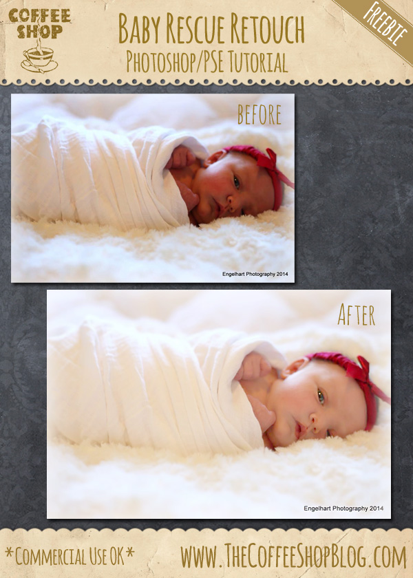 CoffeeShop Photoshop/PSE Tutorial: Baby Portrait Rescue!