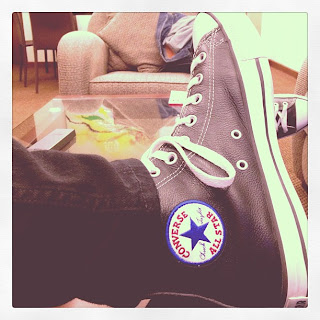 Greyson Chance shows off his new Converse All Star Shoes