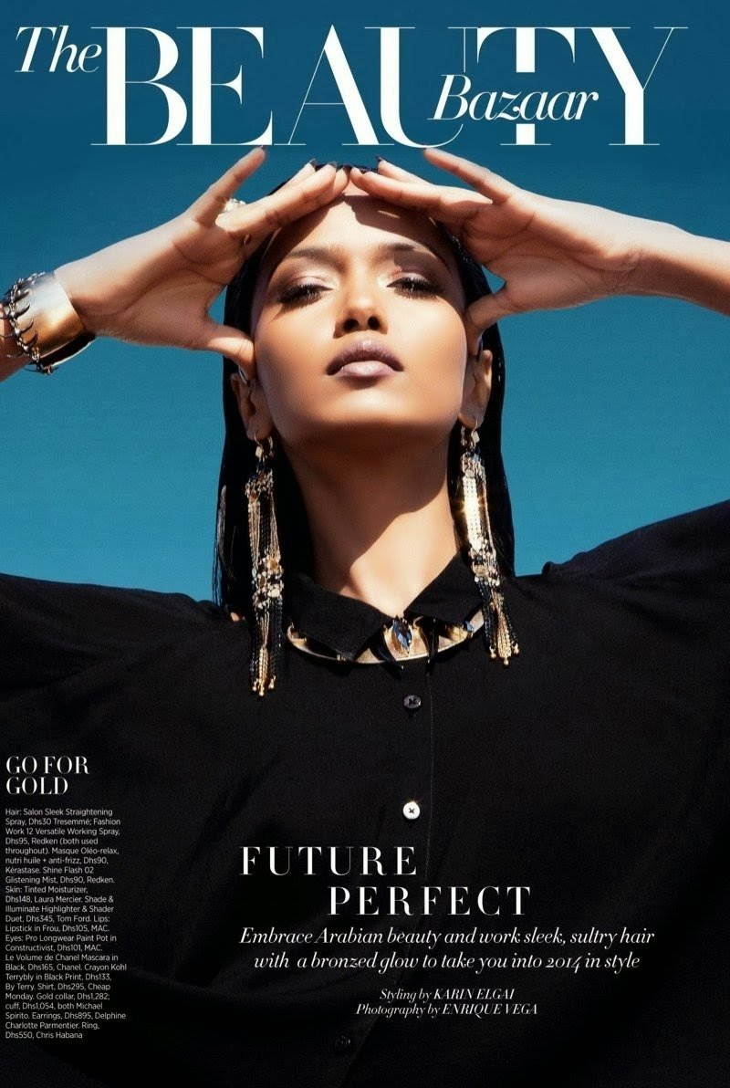 Magazine Photoshoot : Garima Parnami Photoshot For Enrique Vega Harper's Bazaar Magazine Arabia December 2013