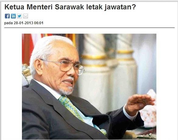 KUCHING: Desas-desus di Sarawak bertiup kencang mengenai kemungkinan