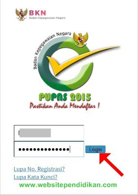 Login PUPNS 2015