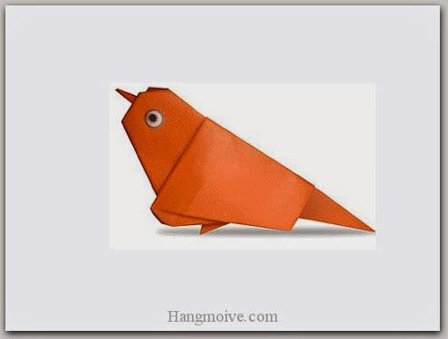Cách gấp, xếp con chim sẻ bằng giấy origami - Video hướng dẫn xếp hình Động vật - How to fold a Sparrow