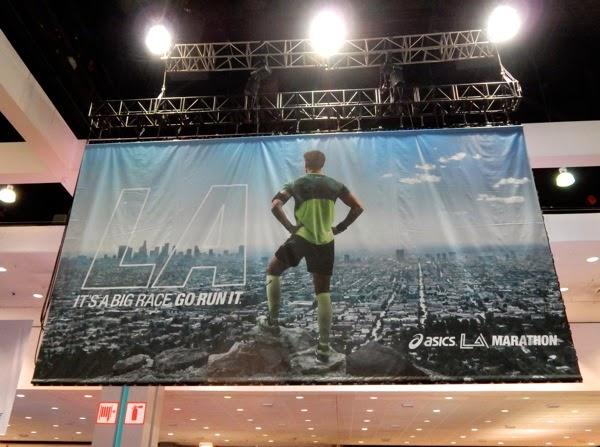 Asics LA Marathon Expo 2015 signage