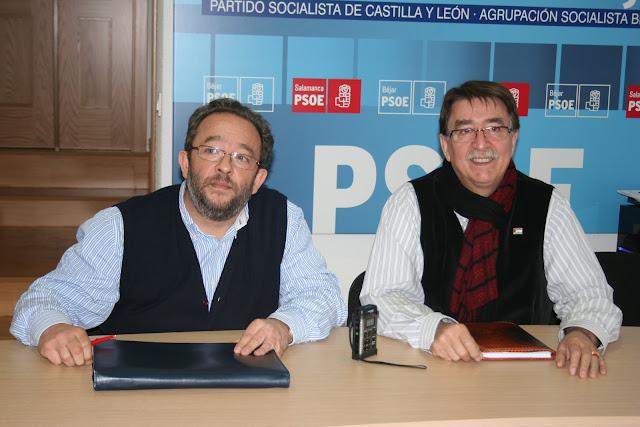 Jose luis R. Celador y cipriano gnzalez, dos de los concejales socialistas