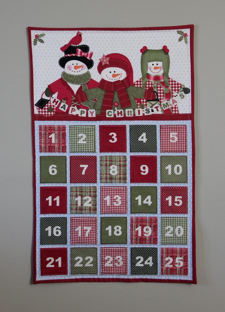 Handmade Calendar Tutorial : Fabric mill advent calendar panel tutorial