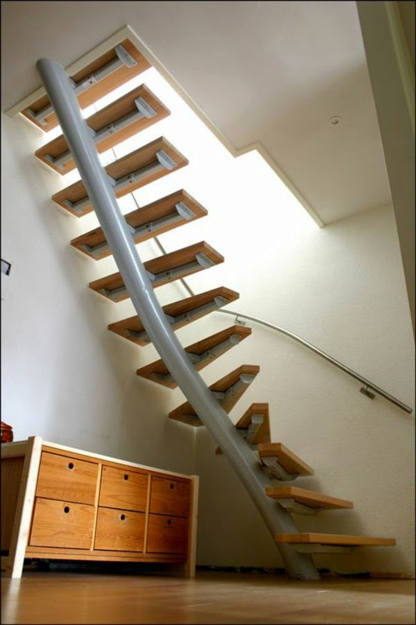 Functional space saving stairs 15 designs and ideas - Stair designs for small spaces minimalist ...