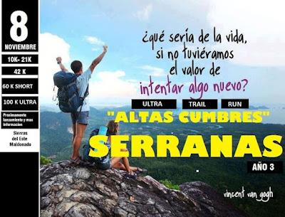 Altas Cumbres Serranas Trail Run (sierras del Este, Maldonado, 08/nov/2015)