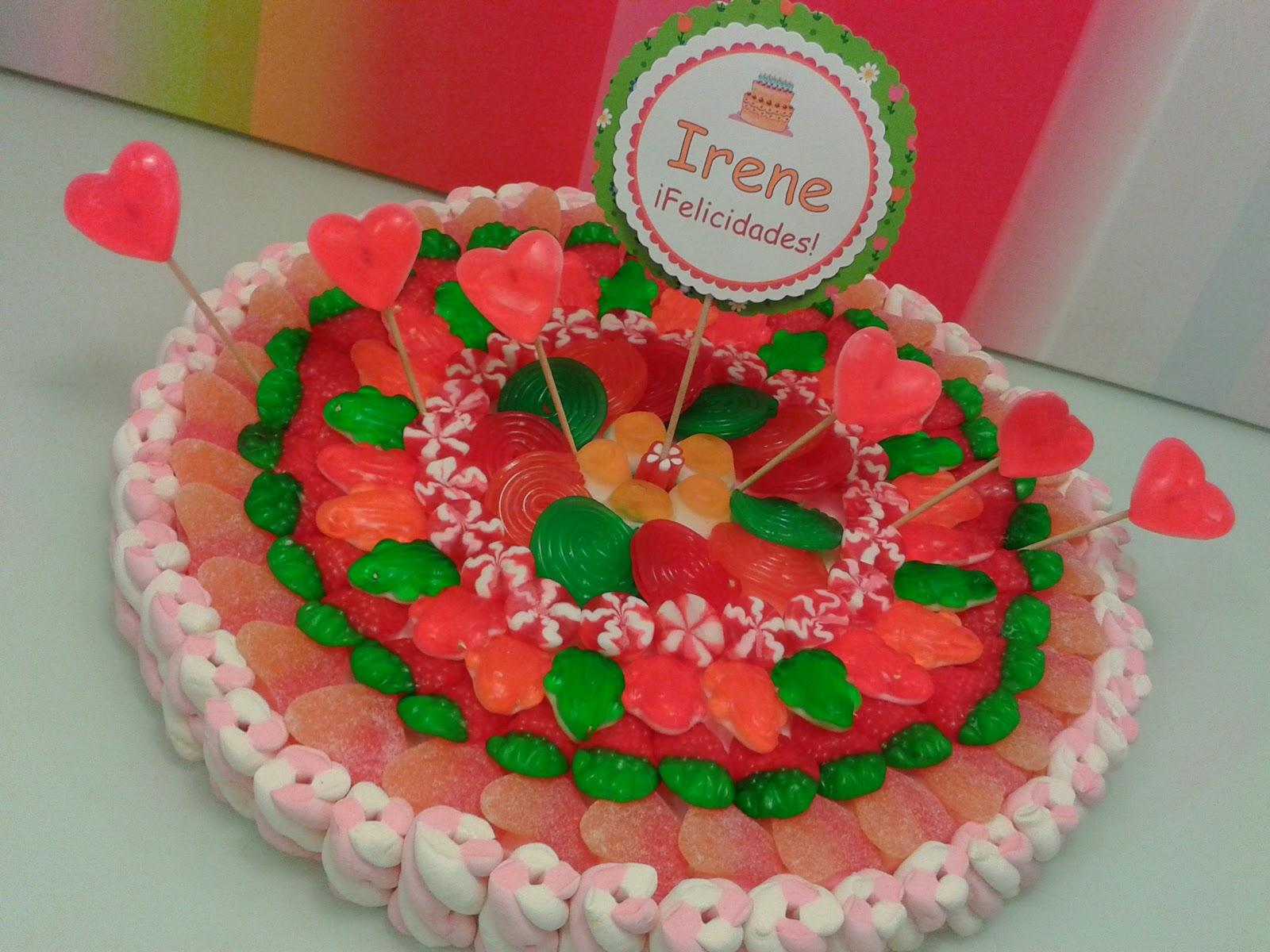 Chuchedetalles pamplona tarta de chuches para irene - Tartas de chuches fotos ...