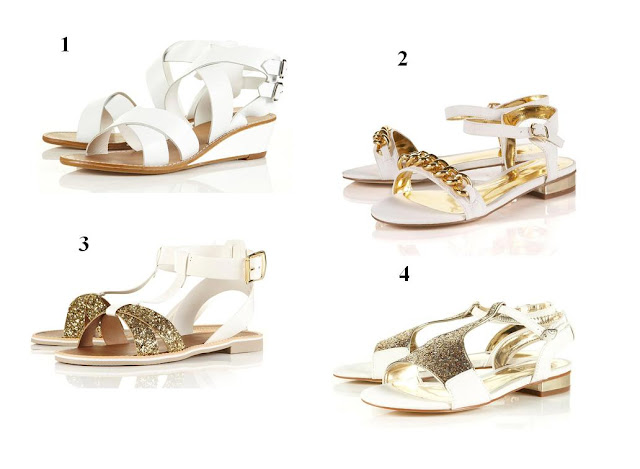 Sandalias blancas Top Shop P/V 12