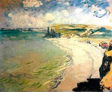 "Picture of ""Beach in Pourville"" by Claude Monet, 1882"