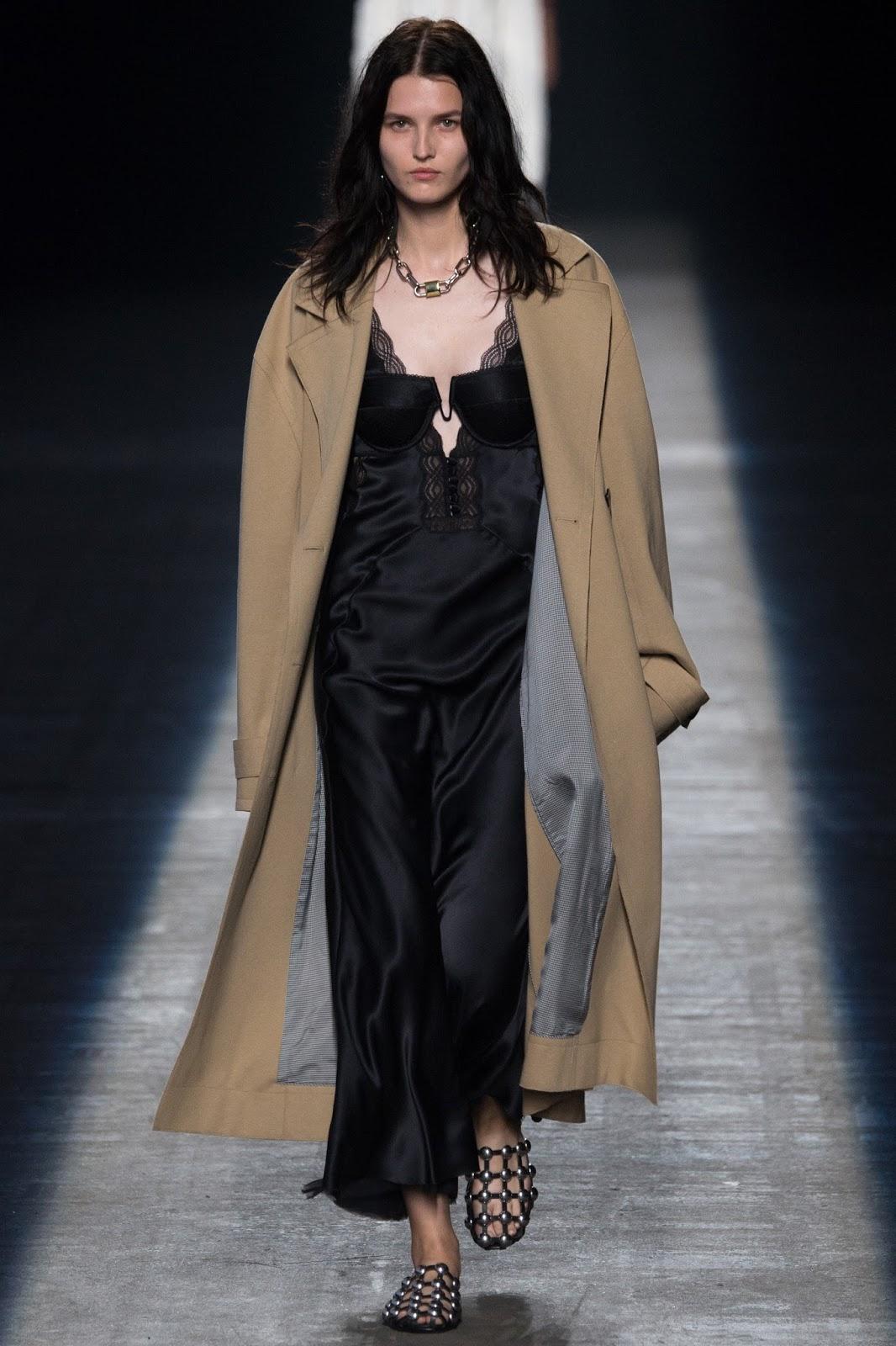 NYFW new york fashion week slip camel coat