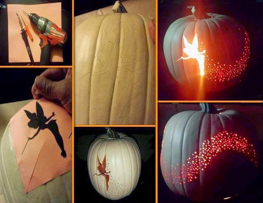 DIY Tinkerbell Pumpkin Carving