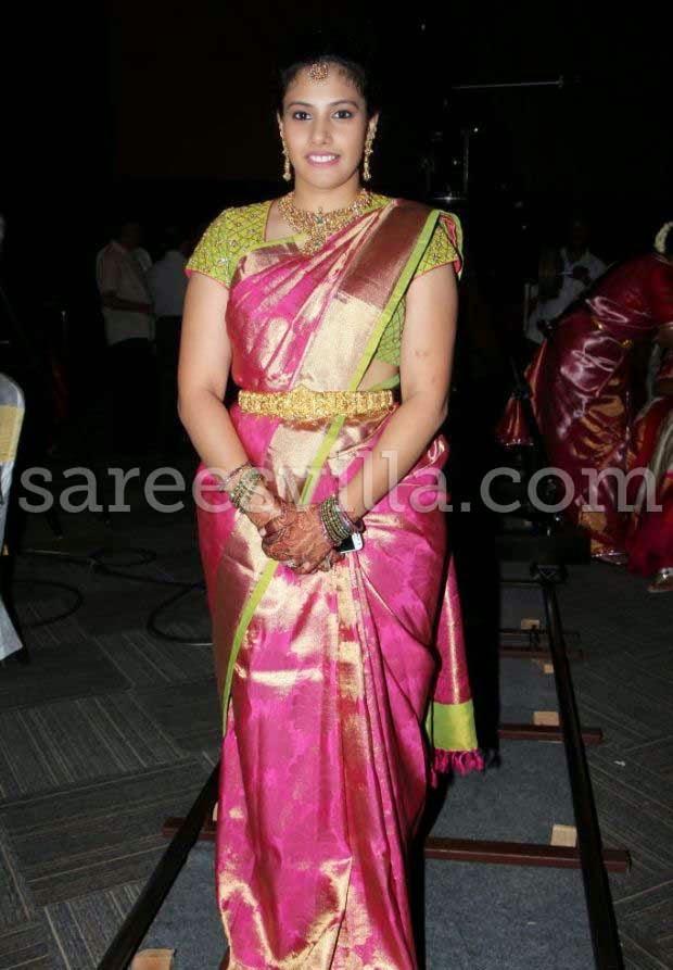 Guest in Kanchipuram Silk Saree