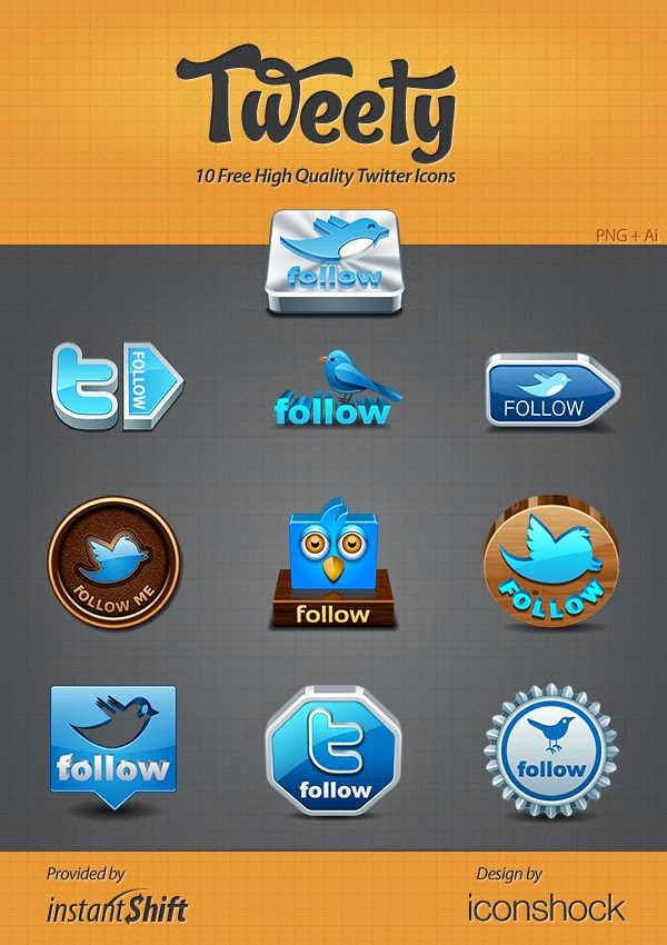Tweety Twitter Icon Set
