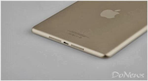 iPad Mini 2 Liris Warna Emas Dengan Touch ID