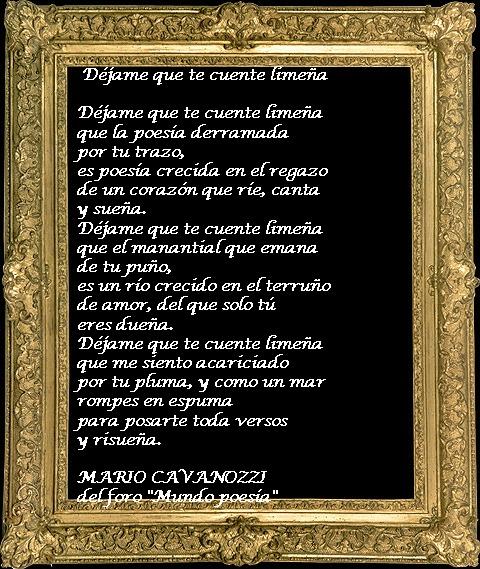 Poema que me dedicó un poeta que se enamoró de mis versos en Mundopoesía.com