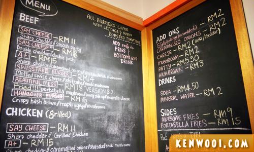 myburgerlab menu