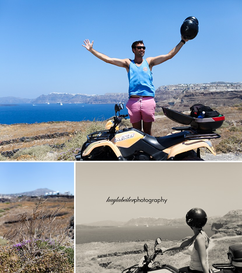 renting scooter santorini photo