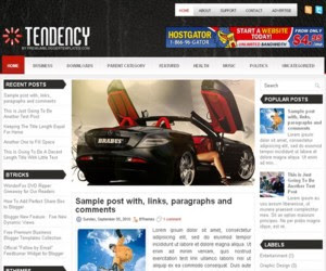 Tendency Blogger Template