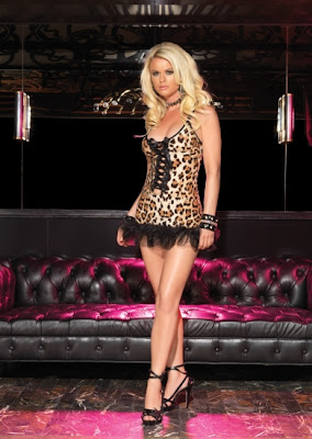SexyLeopard Ruffle Dress