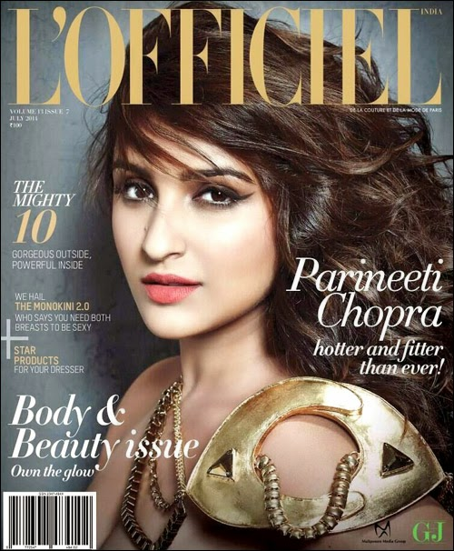 Parineeti Chopra on the cover of L'Officiel July 2014 issue