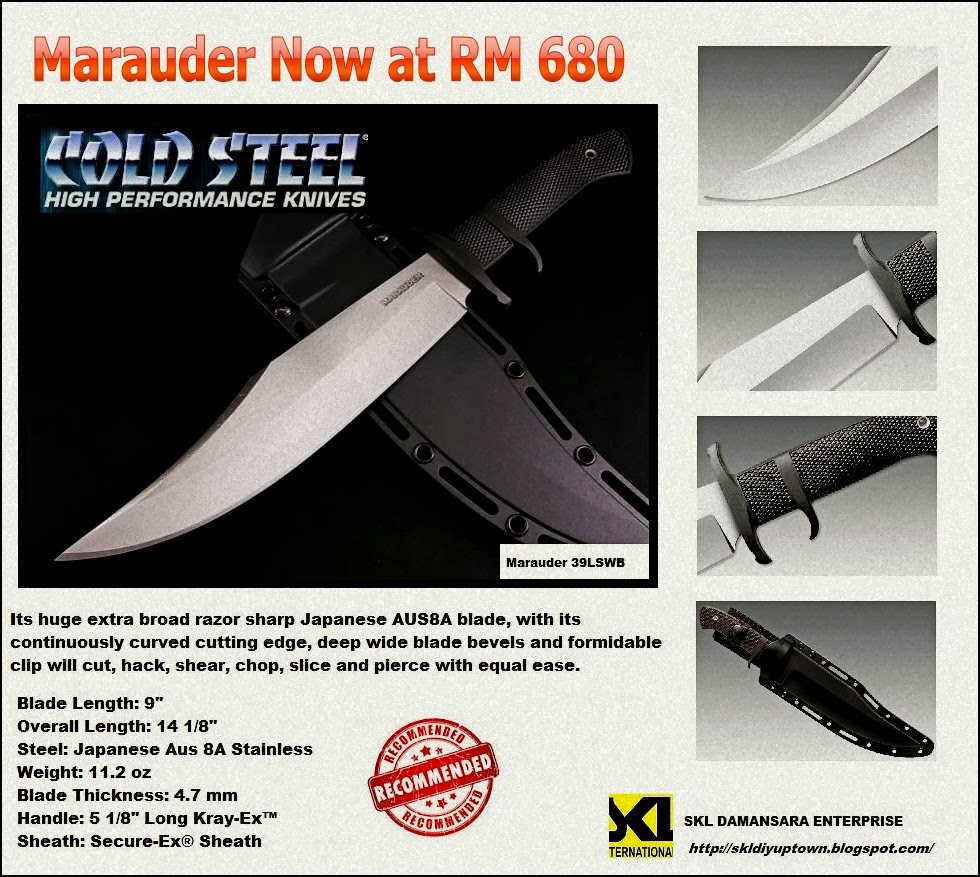 Cold Steel Marauder Beastly Bowie Knife @ RM 680 only