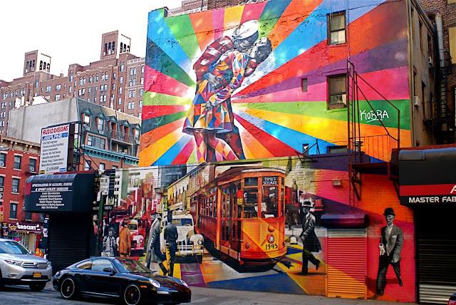 Nyc nyc eduardo kobra s mural of alfred eisenstaedt s for Mural eduardo kobra