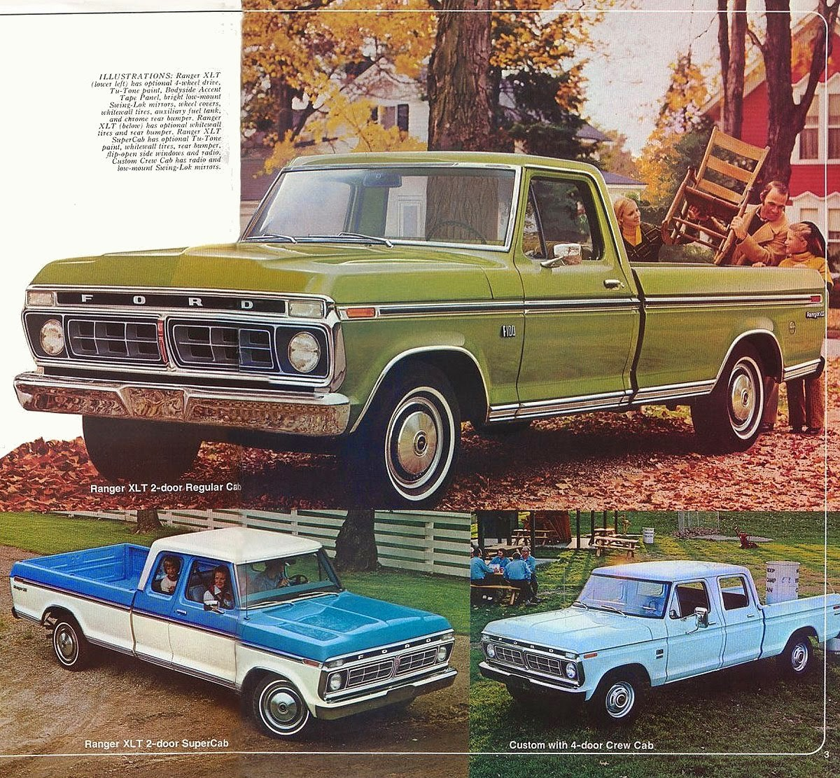 Ford F350 Long Bed Pick Up Ranger Xlt 1975 Stuurman Classic And Brochure 1976 Ups