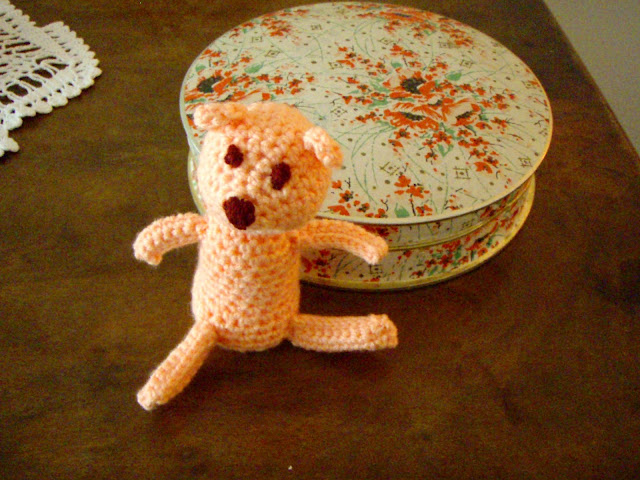 crochet teddy little funny plush toy