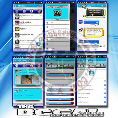 BBM Mod Blue White Shadow New v2.10.0.35 Change Language Features