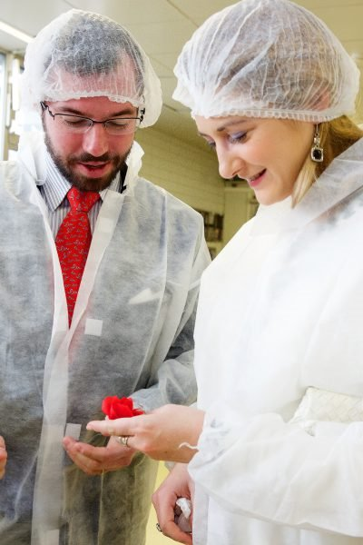 Prince Guillaume And Princess Stephanie Visited Namur Patisserie Factory