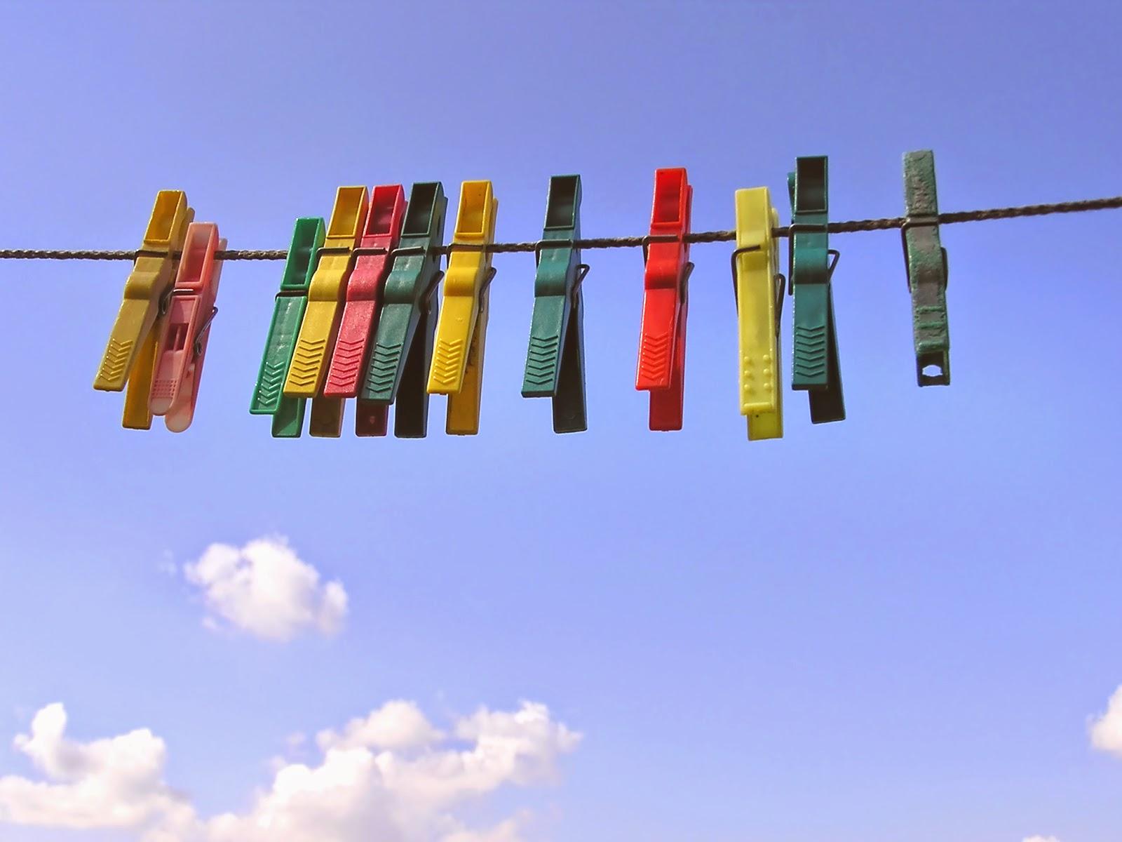 Toda la ropa limpia y seleccionada por colores