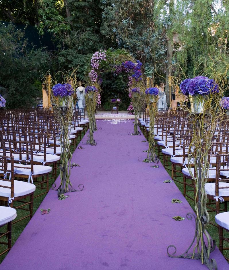 El morado como tono principal en la decoraci n de bodas