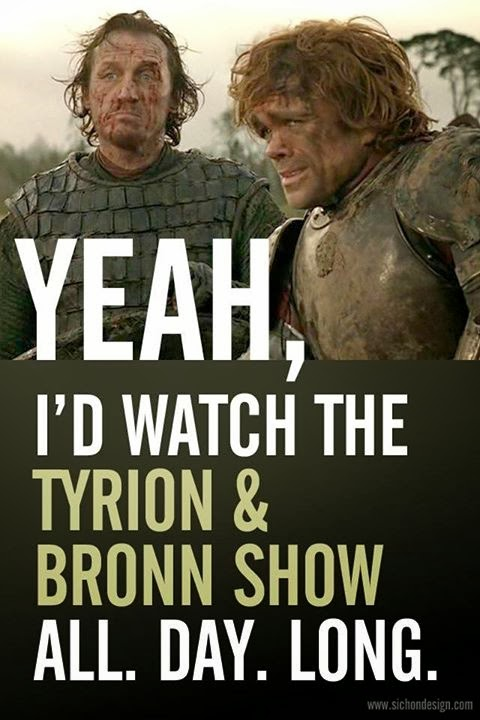 bronn and tyrion game of thrones meme