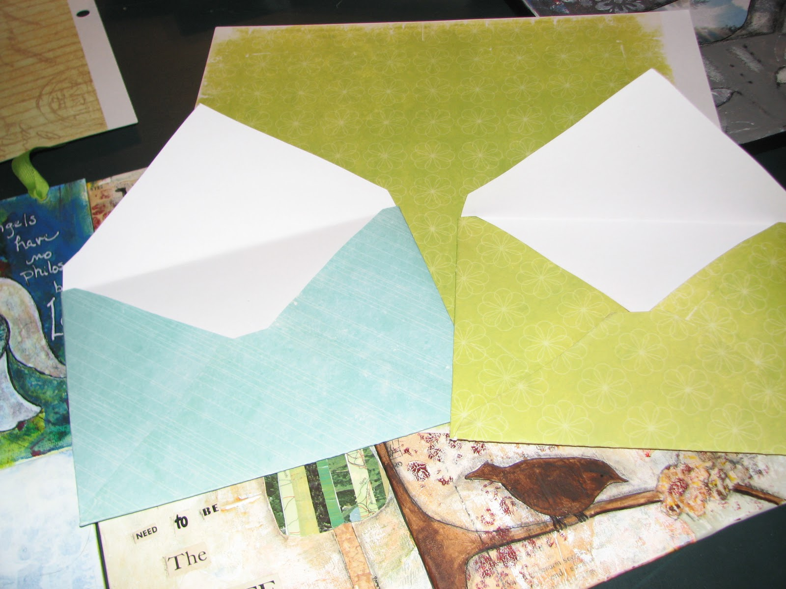 Scrapbook paper envelope template - I Tried A Couple Of Prototypes For Envelopes Before I Decided To Use An Envelope From A Card I Received From A Friend As A Template