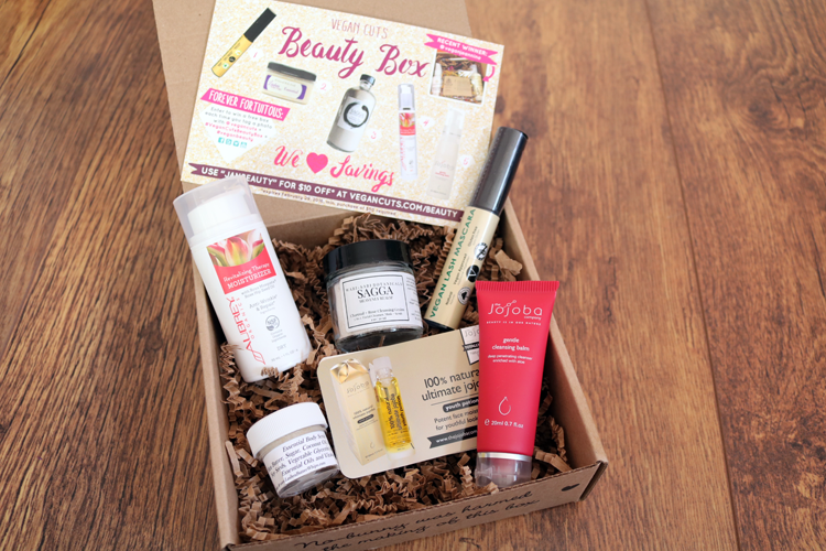 Vegan Cuts Beauty Box January 2016 review