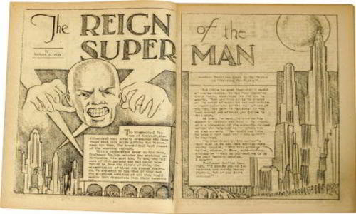 Superman was originally bald megalomania patient