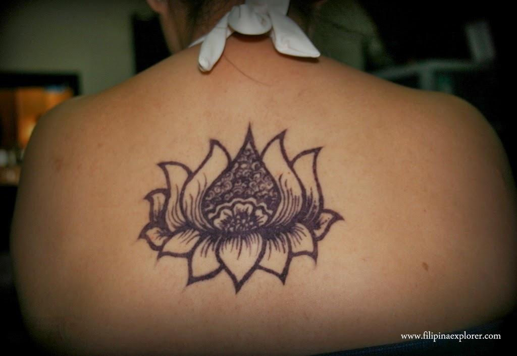 Henna Lotus Flower Tattoo