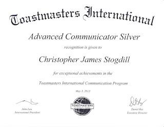 Toastmasters International Advanced Communicator Silver Award