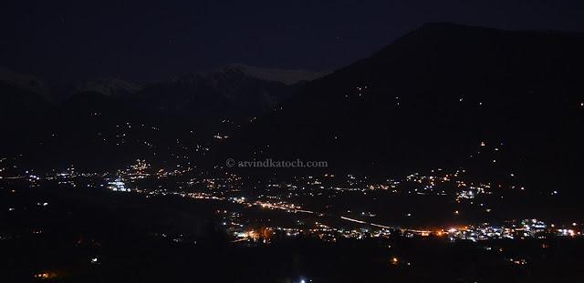 PatliKuhl, kullu, Naggar, Castle, Night View, Pic,