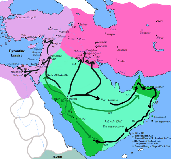 Map of Muslim Conquests
