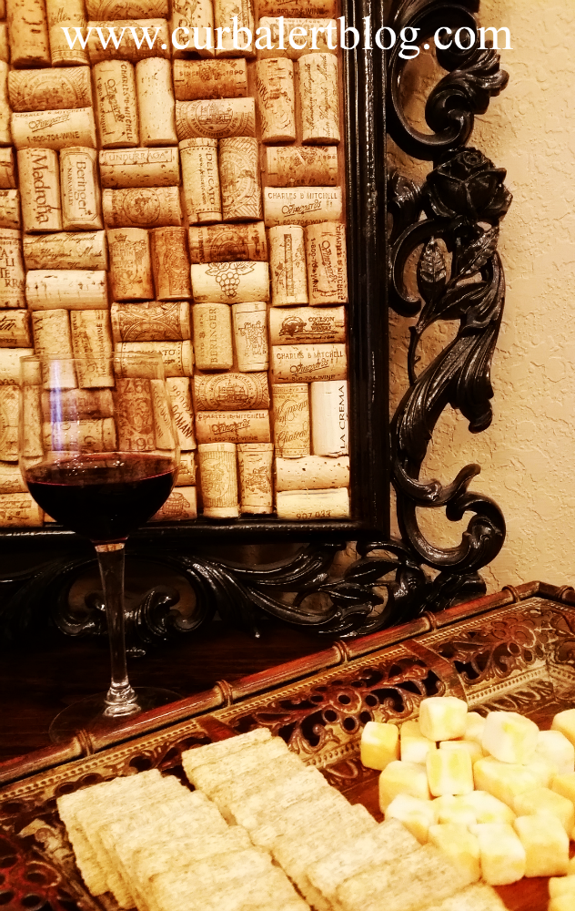 Framed Wine Cork Display via Curb Alert! www.curbalertblog.com