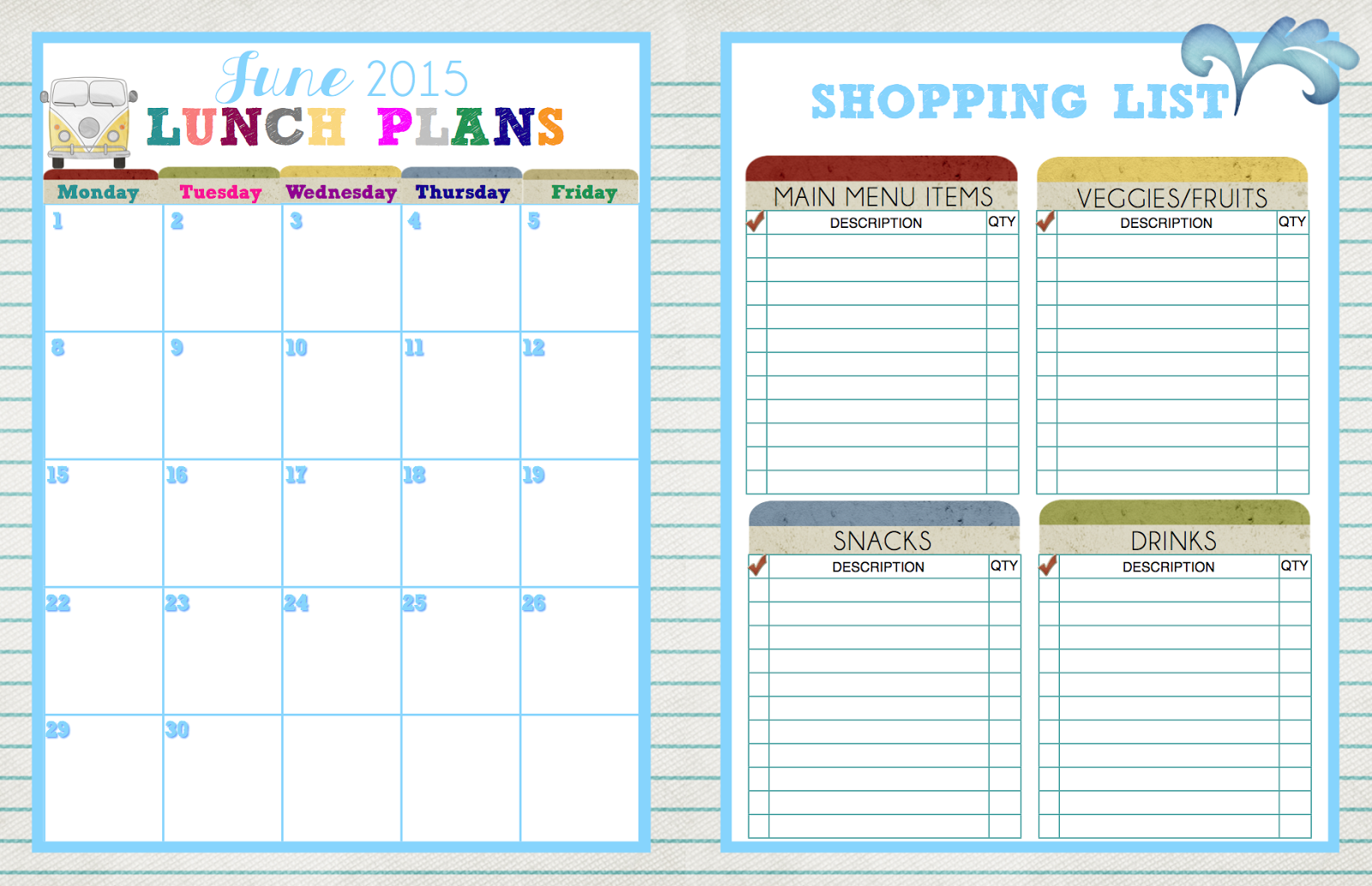 ... - Monthly Planner/Weekly Planner: There's no lunch like home lunch