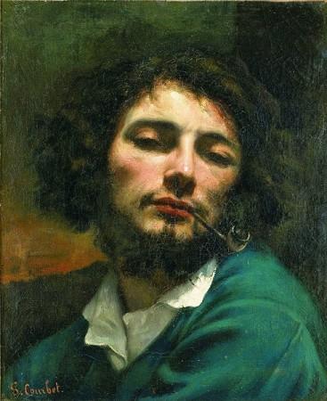 Imagen de la pintura El hombre de la pipa de Courbet
