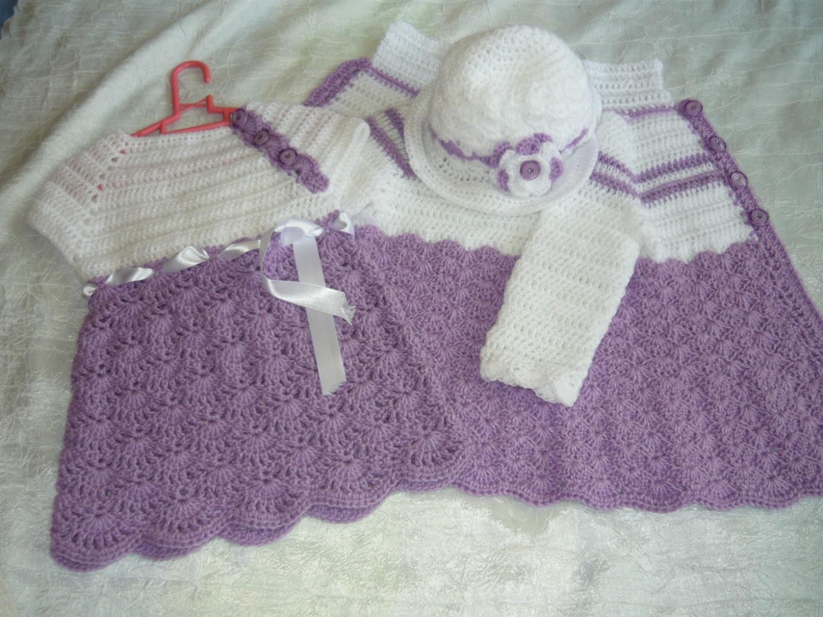 spesso Vestiti uncinetto e ferri: Completo per bambine UJ41