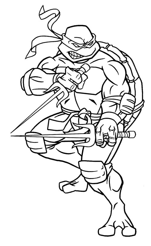 Free teenage mutant ninja turtles coloring pages for kids for Coloring pages turtles ninja
